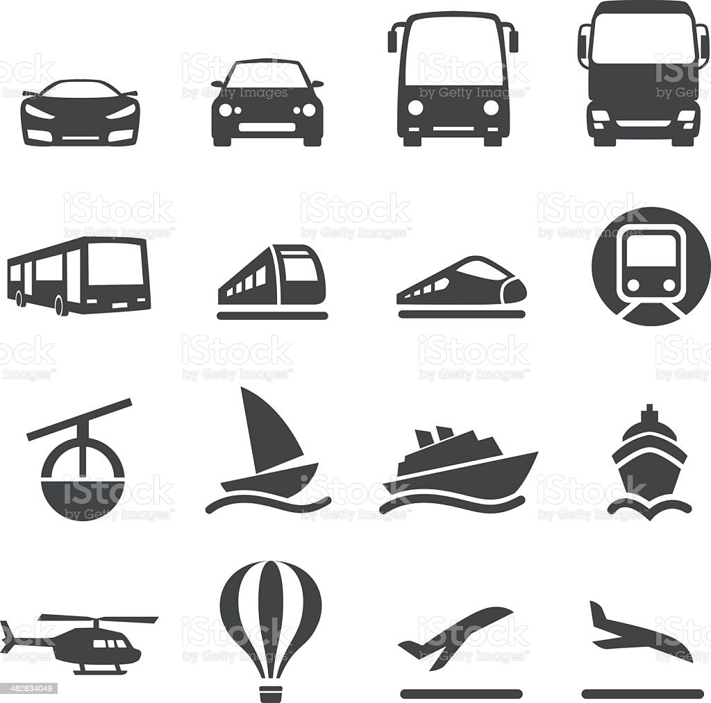 Mode of Transport Icons Set 2-Acme Series vector art illustration