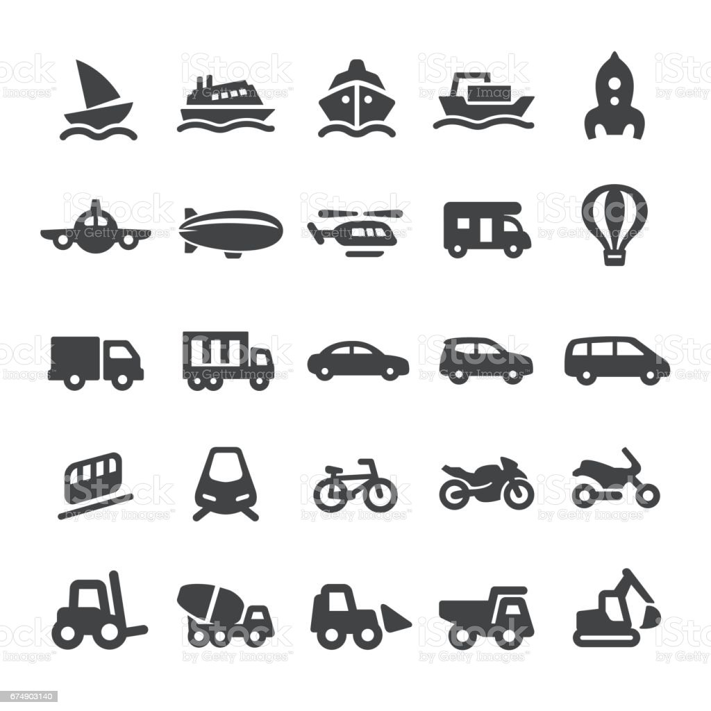 Mode of Transport Icons - Smart Series vector art illustration