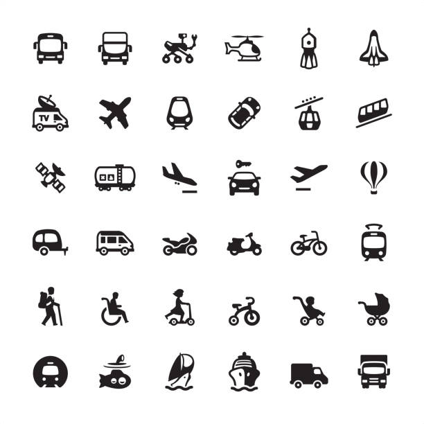 Mode of transport - Ultimate icons pack Mode of transport — Ultimate pack #34 baby carriage stock illustrations