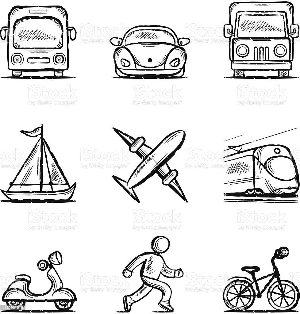 Transportmittel – Vektorgrafik