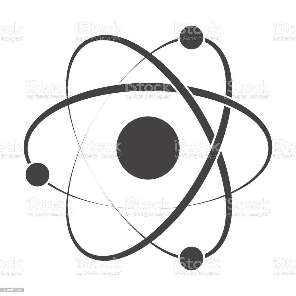 Model Atom Icon vector art illustration