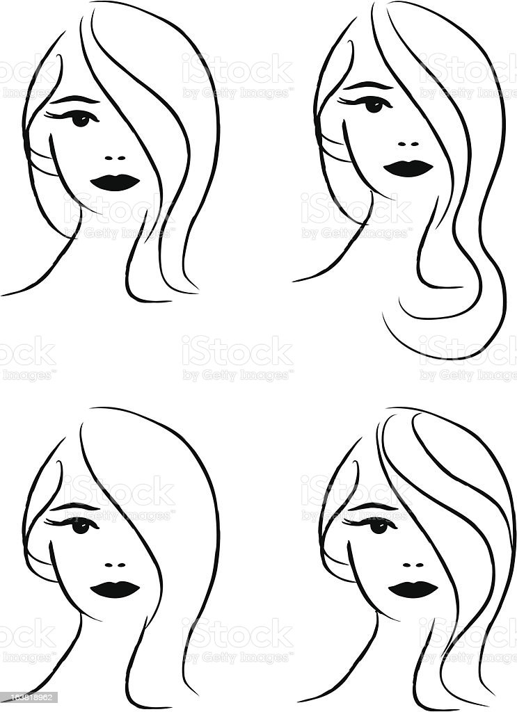 Model heads royalty-free stock vector art