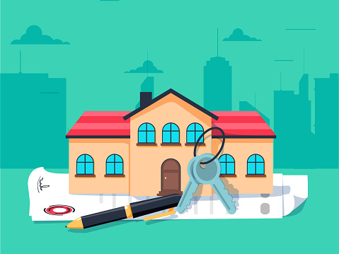 Mortgage and loan stock illustrations