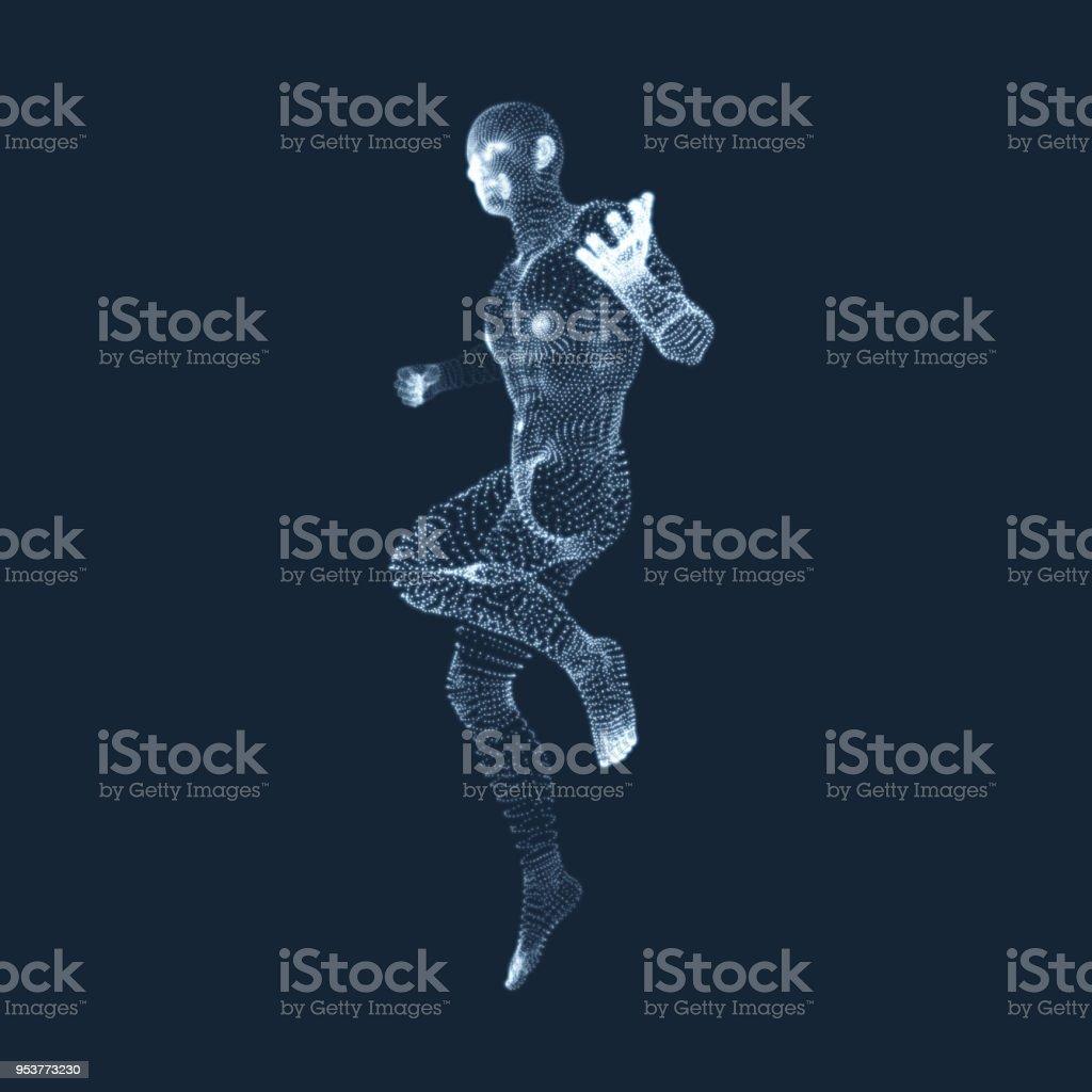 3dmodell Des Menschlichen Körpers Mann Designelement ...