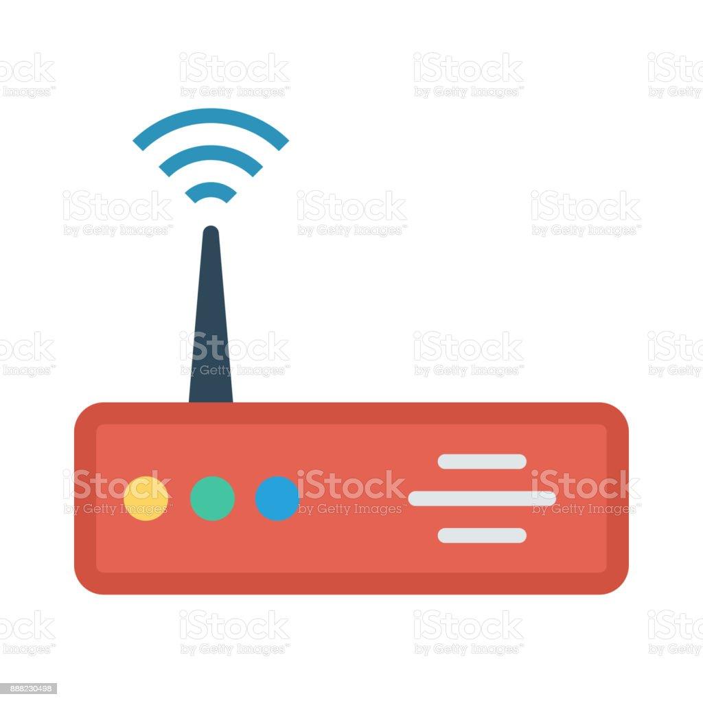 modem vector art illustration