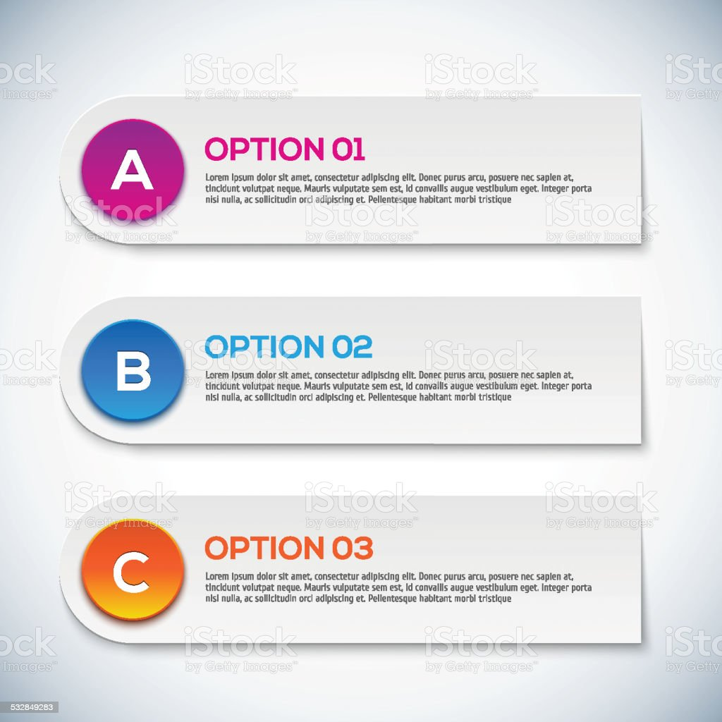 Modern 3d infographics options. Abstract 3D digital illustration Infographic. vector art illustration