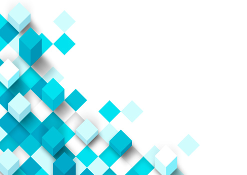 Modern 3D Pixel Background