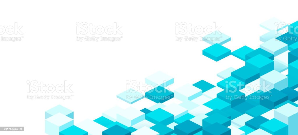 Modern 3D Pixel Background vector art illustration