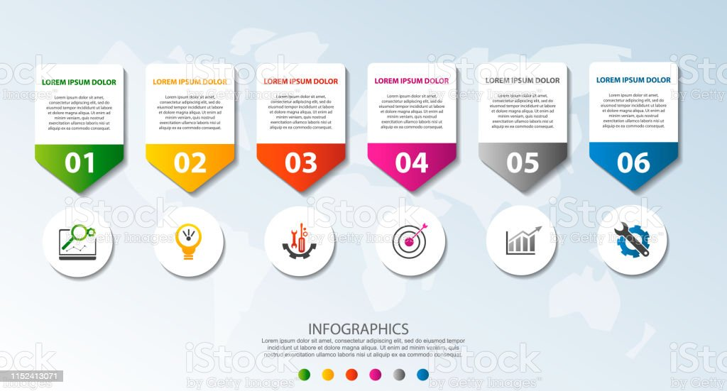 Modern 3d Vector Illustration Circular Infographic Template