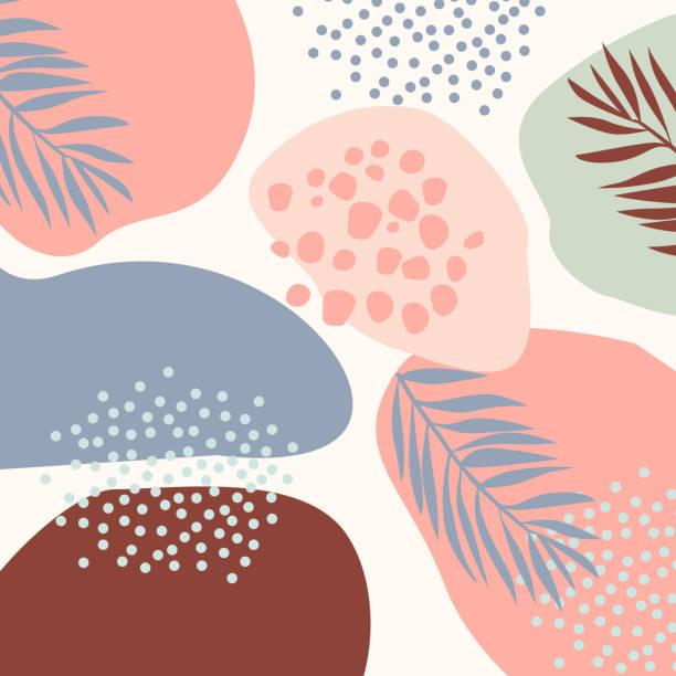 ilustrações, clipart, desenhos animados e ícones de projeto abstrato moderno da arte com formas orgânicas. - organic shapes
