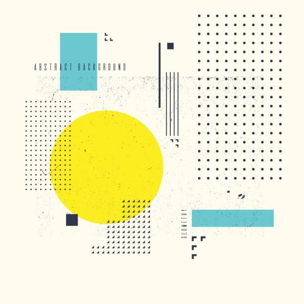 현대 추상 미술 평면, 최소한의 스타일과 기하학적 배경. 벡터 포스터 - 날씨 stock illustrations