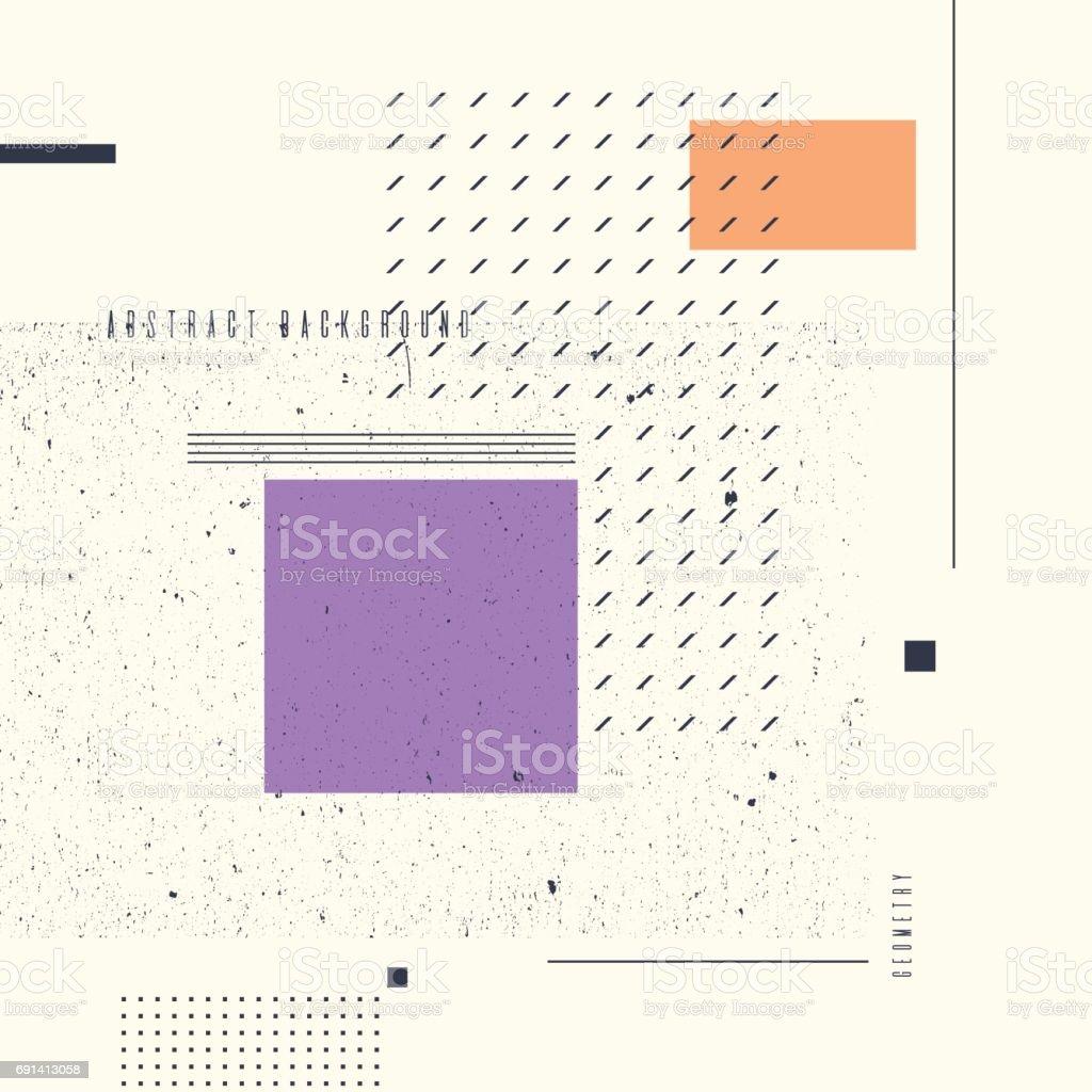 Moderne Art Abstrait Geometrique Fond Avec Plat Style Minimaliste