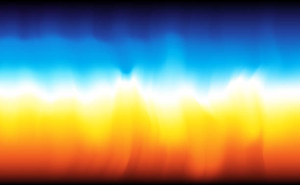modern abstract background fire and water - chłodny stock illustrations