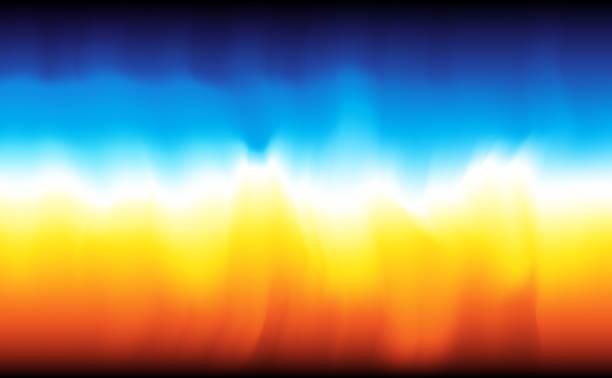 illustrazioni stock, clip art, cartoni animati e icone di tendenza di modern abstract background fire and water - ice on fire