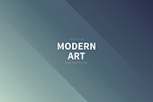 Modern and trendy abstract background with two symmetrical folds diagonally. This illustration can be used for your design, with space for your text (colors used: Gray, Green, Blue, Black). Vector Illustration (EPS10, well layered and grouped), wide format (3:2). Easy to edit, manipulate, resize or colorize.