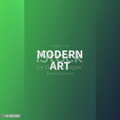 Modern and trendy abstract background with two vertical symmetrical folds. This illustration can be used for your design, with space for your text (colors used: Green, Black). Vector Illustration (EPS10, well layered and grouped), format (1:1). Easy to edit, manipulate, resize or colorize.