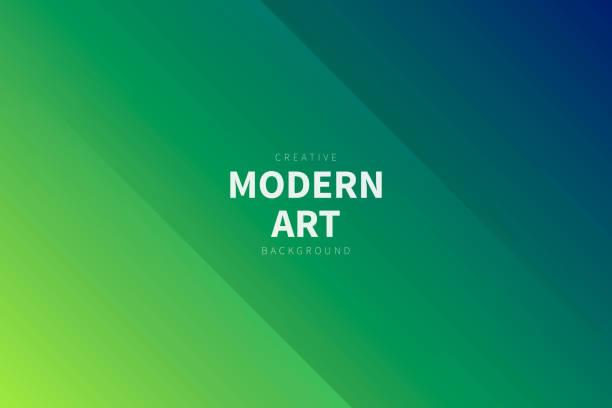 Modern abstract background - Green gradient vector art illustration