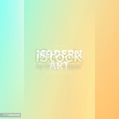Modern and trendy abstract background with two vertical symmetrical folds. This illustration can be used for your design, with space for your text (colors used: Blue, Green, Beige, Yellow, Orange). Vector Illustration (EPS10, well layered and grouped), format (1:1). Easy to edit, manipulate, resize or colorize.