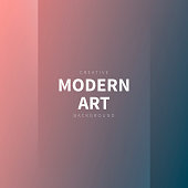 Modern and trendy abstract background with two vertical symmetrical folds. This illustration can be used for your design, with space for your text (colors used: Orange, Pink, Red, Brown, Purple, Gray, Green, Blue). Vector Illustration (EPS10, well layered and grouped), format (1:1). Easy to edit, manipulate, resize or colorize.