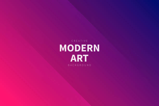 Modern abstract background - Pink gradient Modern and trendy abstract background with two symmetrical folds diagonally. This illustration can be used for your design, with space for your text (colors used: Red, Pink, Purple, Blue). Vector Illustration (EPS10, well layered and grouped), wide format (3:2). Easy to edit, manipulate, resize or colorize. dark blue stock illustrations