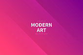 Modern and trendy abstract background with two symmetrical folds diagonally. This illustration can be used for your design, with space for your text (colors used: Red, Pink, Purple). Vector Illustration (EPS10, well layered and grouped), wide format (3:2). Easy to edit, manipulate, resize or colorize.