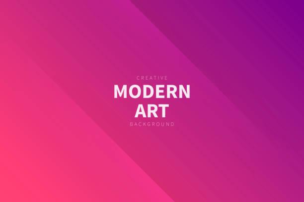 Modern abstract background - Pink gradient vector art illustration