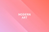 Modern and trendy abstract background with two symmetrical folds diagonally. This illustration can be used for your design, with space for your text (colors used: Purple, Pink, Beige, Orange, Red). Vector Illustration (EPS10, well layered and grouped), wide format (3:2). Easy to edit, manipulate, resize or colorize.