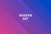 Modern and trendy abstract background with two symmetrical folds diagonally. This illustration can be used for your design, with space for your text (colors used: Pink, Purple, Blue). Vector Illustration (EPS10, well layered and grouped), wide format (3:2). Easy to edit, manipulate, resize or colorize.