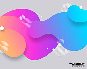 Brightly colored contemporary abstract background.