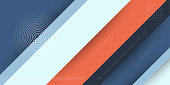 Modern abstract background with memphis elements and pastel colors suitable for posters, banners and website promotions. This background has a diagonal line element with a papercut effect.