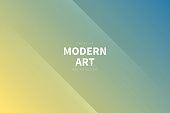 Modern and trendy abstract background with two symmetrical folds diagonally. This illustration can be used for your design, with space for your text (colors used: Yellow, Beige, Orange, Gray, Blue). Vector Illustration (EPS10, well layered and grouped), wide format (3:2). Easy to edit, manipulate, resize or colorize.