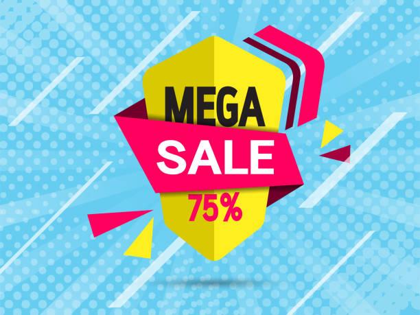 ilustrações de stock, clip art, desenhos animados e ícones de modern abstract banners template arrow for sale. vector illustration for use in web or print design. - amiba