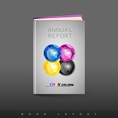 Modern abstract brochure as book flyer design template. Abstract theme.