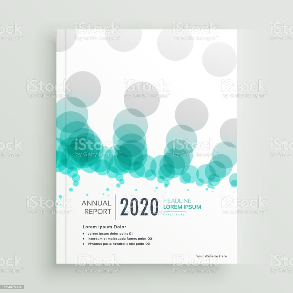 modern abstract circles brochure or cover page annual report template royalty free modern abstract circles