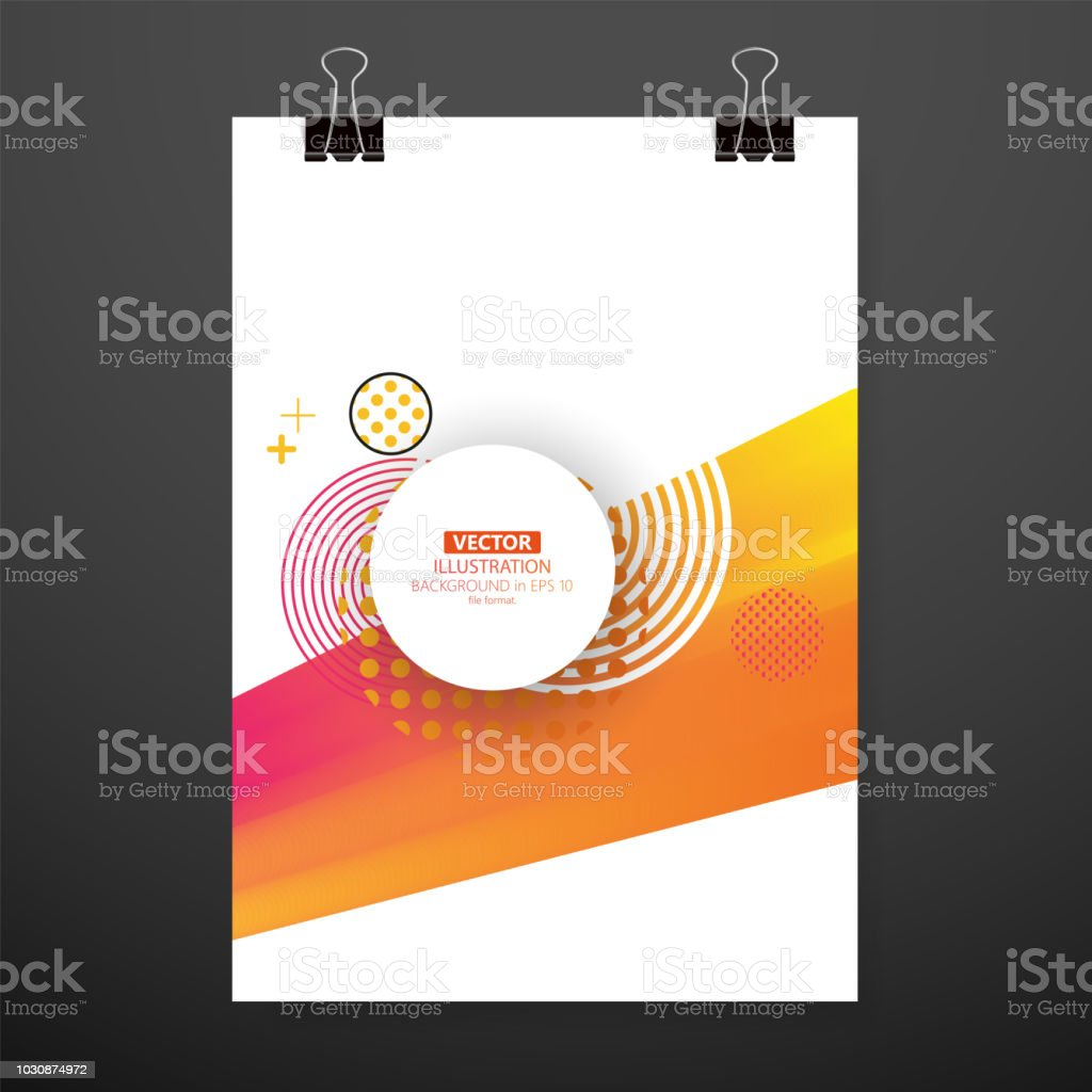 Modern Abstract Cover Cool Gradient Waves Composition Eps10