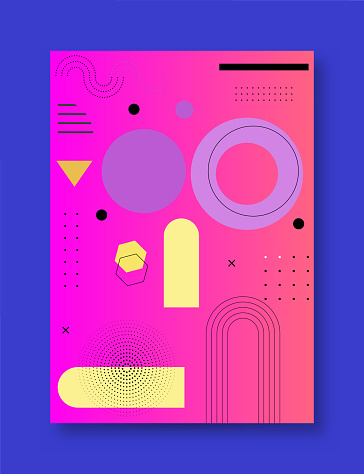 Modern abstract covers set, minimal covers design. Colorful geometric background, vector illustration. stock illustration