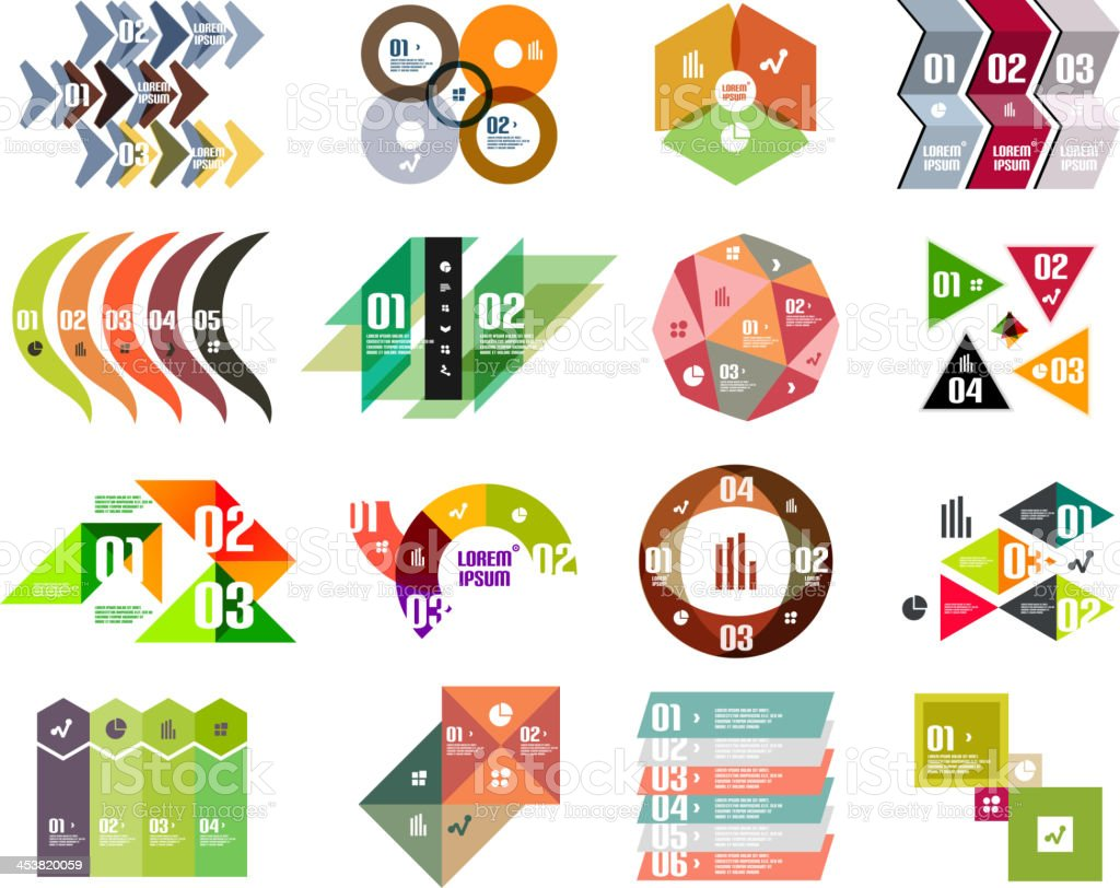 Modern abstract design templates set royalty-free stock vector art