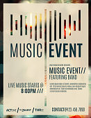 Modern abstract flyer for a live music event