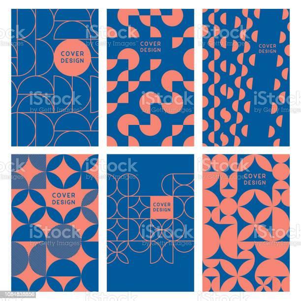 Modern Abstract Geometric Cover Templates - Arte vetorial de stock e mais imagens de Abstrato
