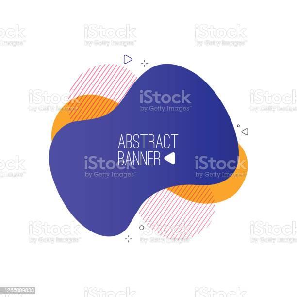 Vetores de Formas E Banners Líquidos Abstratos Modernos Design Fluido Linhas Geométricas De Gradiente Isolados Pontos Ilustração Vetorial Distintivos Vibrantes Ilustração De Estoque e mais imagens de Abstrato