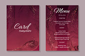 istock Modern abstract luxury wedding invitation design or card templates for birthday greeting or certificate or cover. 1265150576