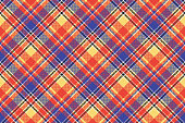 Modern abstract madras plaid seamless pattern. Vector illustration.