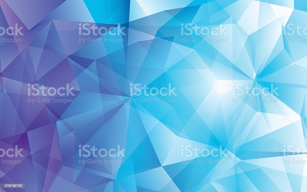 Modern abstract polygonal vector background. Blue hi-tech texture - ilustración de arte vectorial