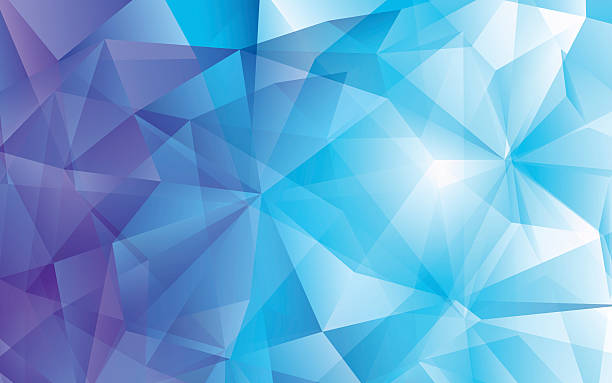 stockillustraties, clipart, cartoons en iconen met modern abstract polygonal vector background. blue hi-tech texture - triangel