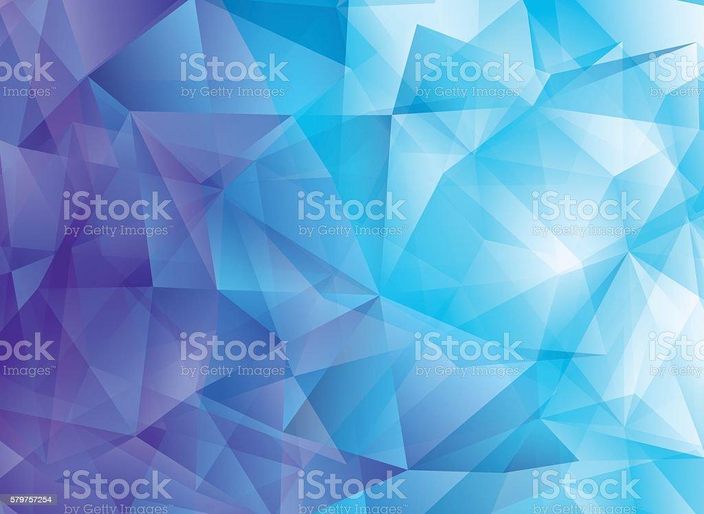 Modern abstract polygonal vector background. Blue hi-tech texture vector art illustration