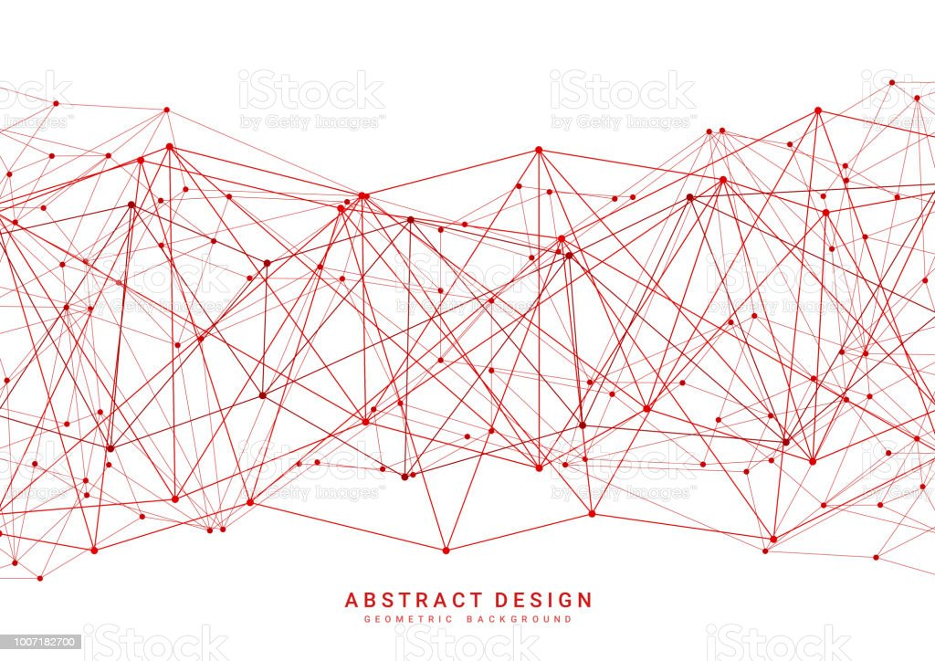 Modern Abstract Red Polygonal Background Geometric Pattern Design For  Website Poster And Brochure Stock Illustration - Download Image Now