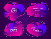 Modern abstractframe banner, Color abstract liquid shape. Vector
