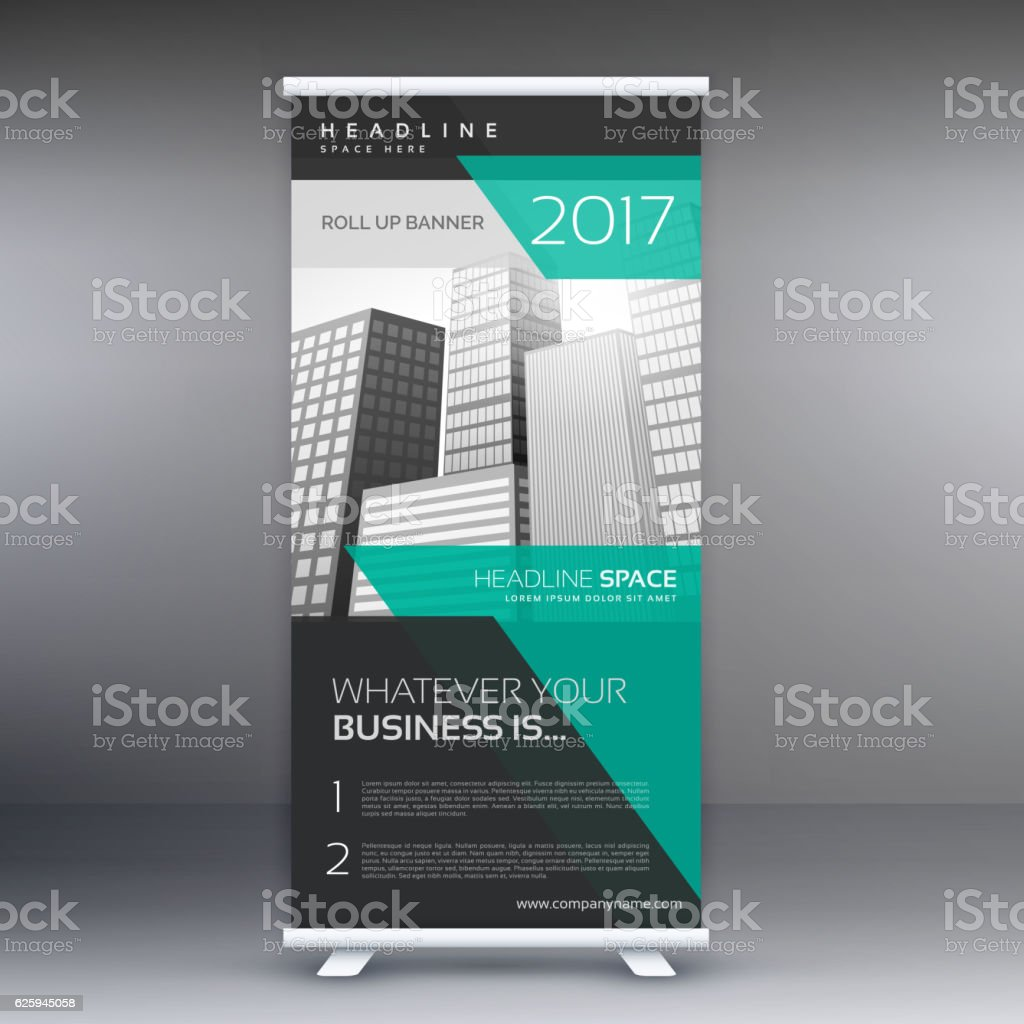 modern advertising roll up display banner template アイデ