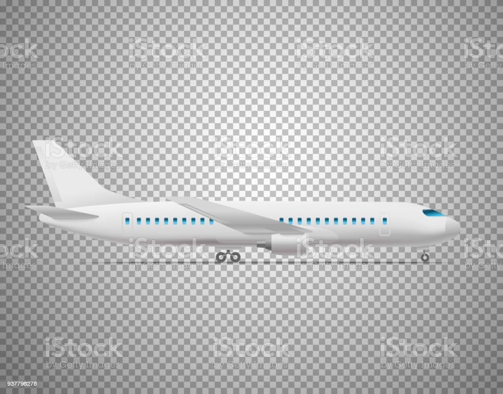 Modern Aircraft Isolated On Transparent Background Layered Illustration Royalty Free