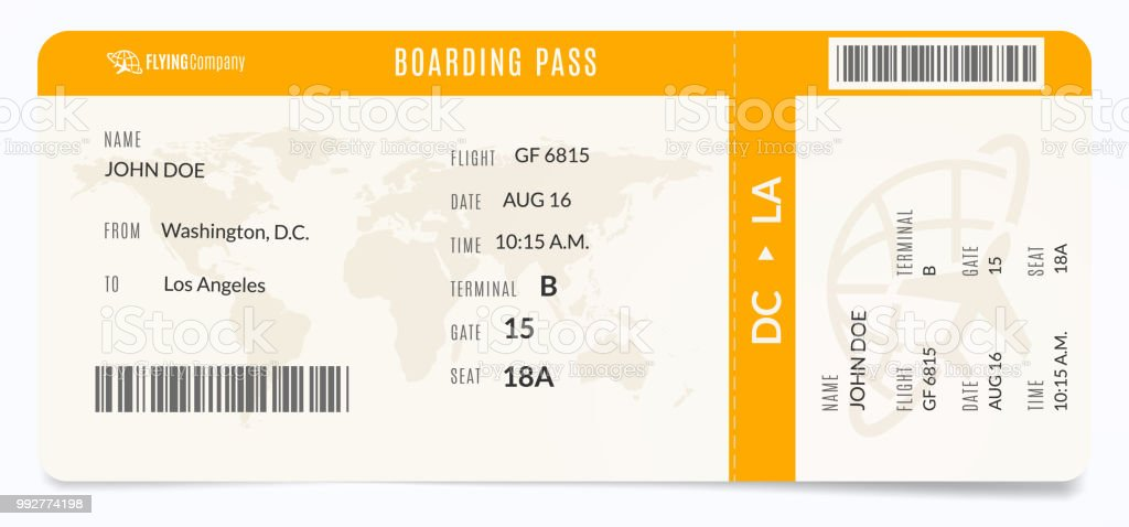 modern airplane template realistic plane admission boarding pass